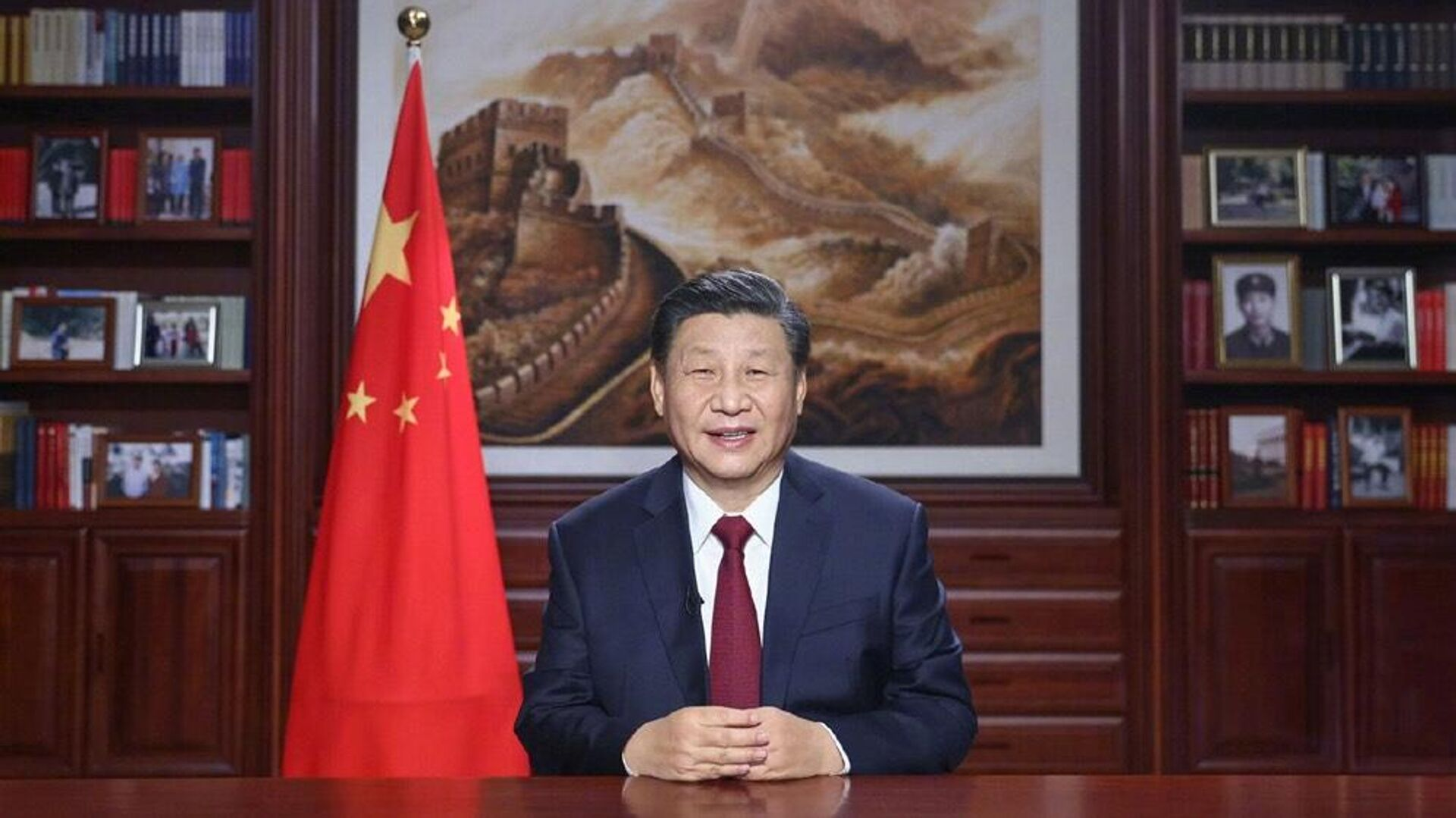Председатель КНР Си Цзиньпин поздравил китайскую нацию и народы всего мира с наступающим 2021 годом - РИА Новости, 1920, 10.09.2021
