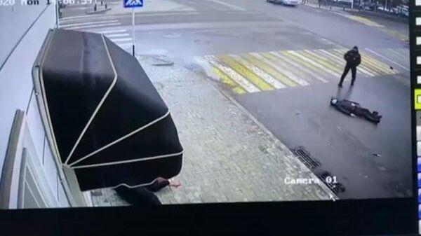Нападение на полицейских в Грозном. Видео с камер наблюдения