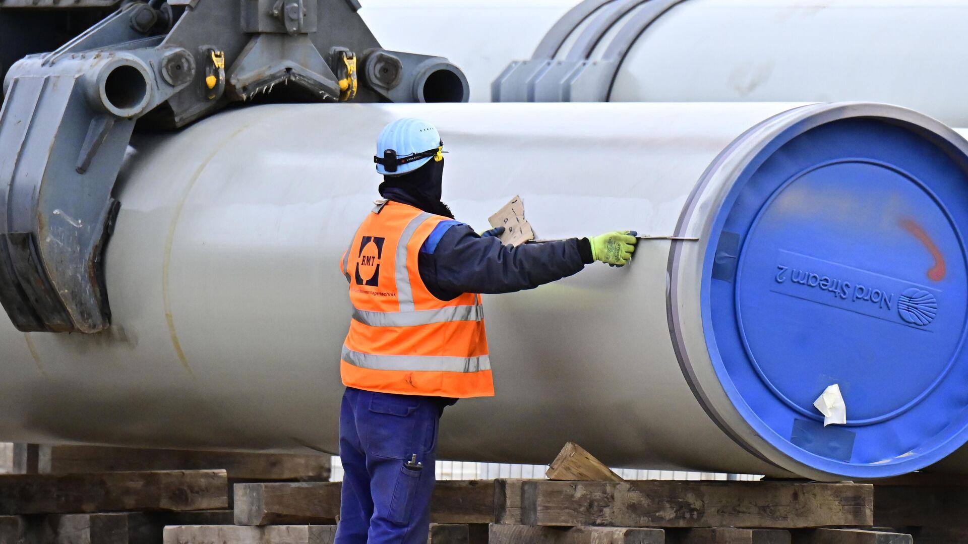 Строительство газопровода Nord Stream-2 в немецком Любмине - РИА Новости, 1920, 19.01.2021