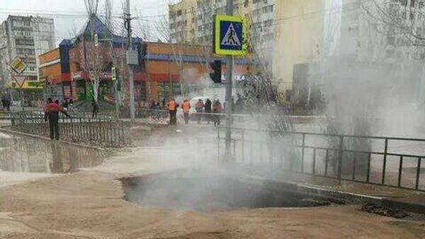 Прорыв теплотрассы под Волжском в Волгоградской области