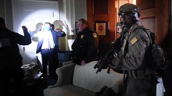Ситуация в здания конгресса в Вашингтоне