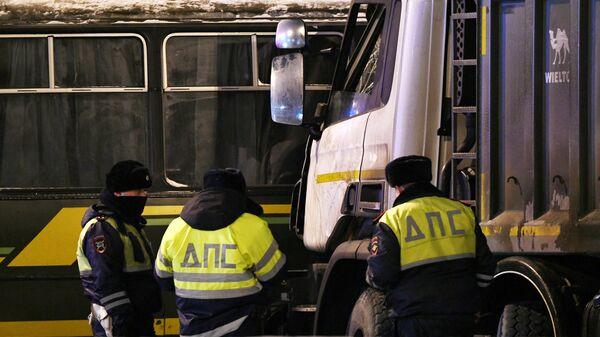 ДТП с военными автобусами в Подмосковье