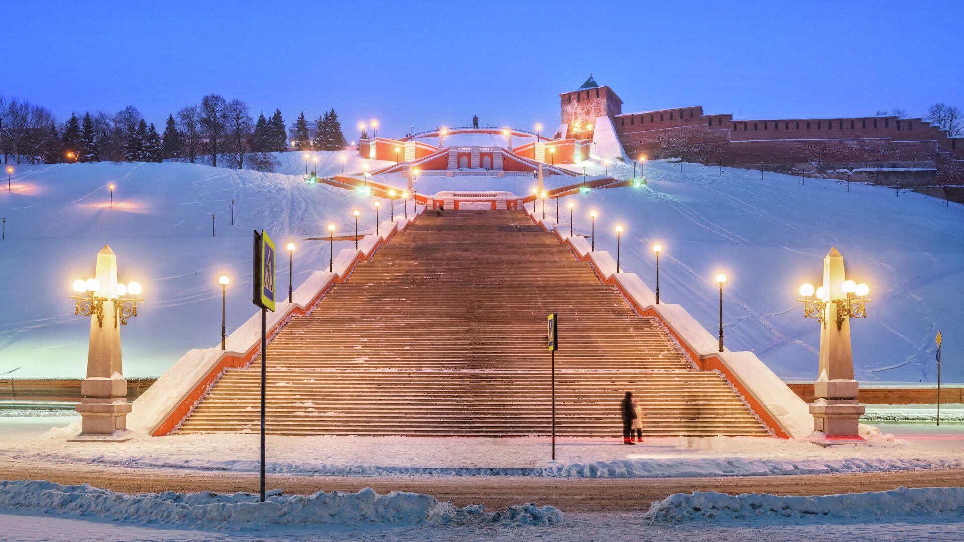Чкаловская лестница - РИА Новости, 1920, 14.01.2021