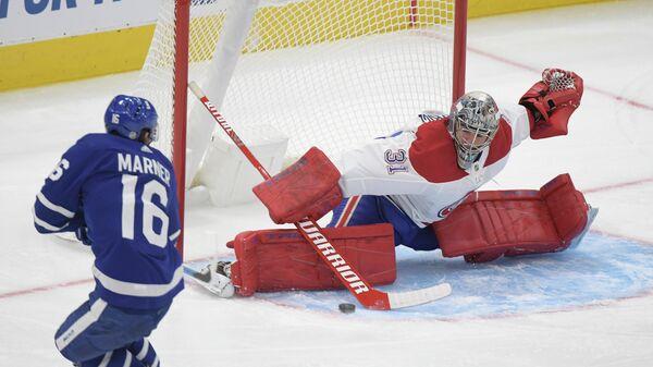 Игровой момент матча НХЛ  Монреаль Канадиенс - Торонто Мейпл Лифс
