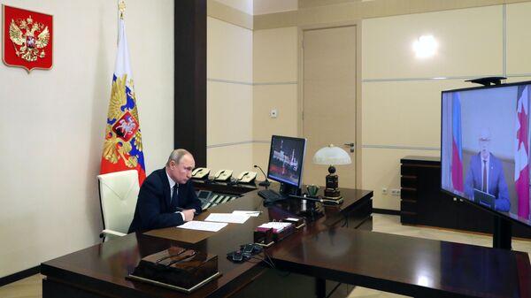 Президент РФ Владимир Путин провел встречу с главой Удмуртии Александром Бречаловым