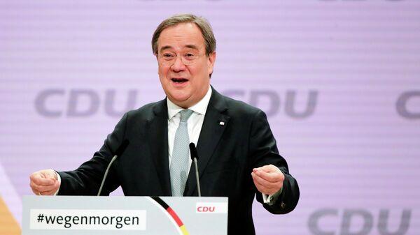 Новоизбранный лидер партии Христианско-демократический союз Армин Лашет