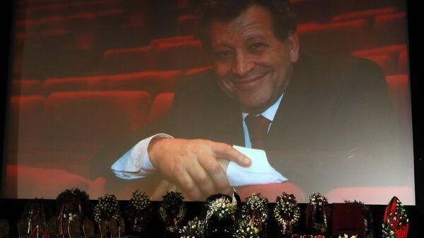 На церемонии прощания с создателем детского юмористического киножурнала Ералаш, режиссером Борисом Грачевским в Доме кино в Москве