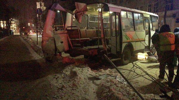 На месте ДТП с участием маршрутного автобуса в Воронеже