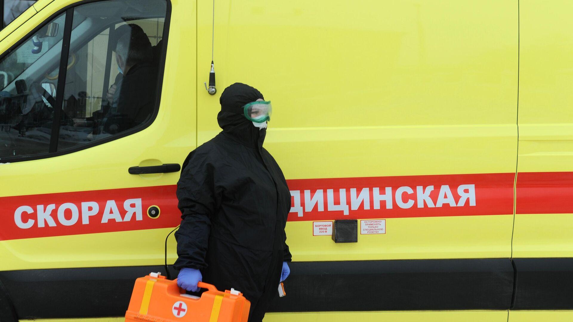 Работа скорой помощи с больными коронавирусом в Тамбове - РИА Новости, 1920, 26.01.2021