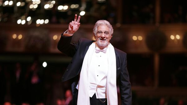 Пласидо Доминго на церемонии открытия Венского оперного бала