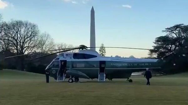 Трамп направился к вертолету, покидая Белый дом перед инаугурацией Байдена