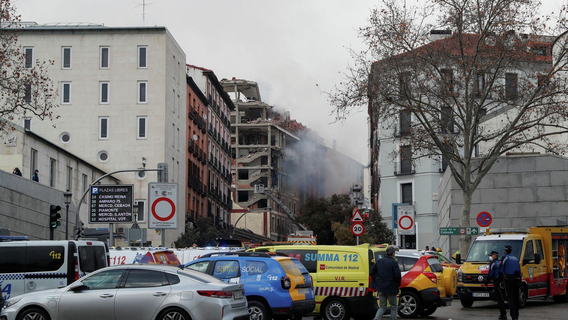 Разрушенное в результате взрыва здание в Мадриде - РИА Новости, 1920, 20.01.2021