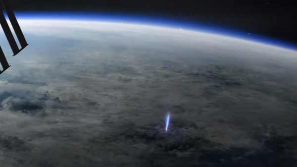 Редкие природные явления сняли с борта МКС