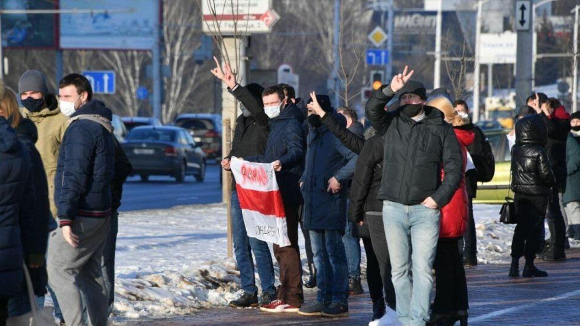 Акция протеста в Минске - РИА Новости, 1920, 06.02.2021