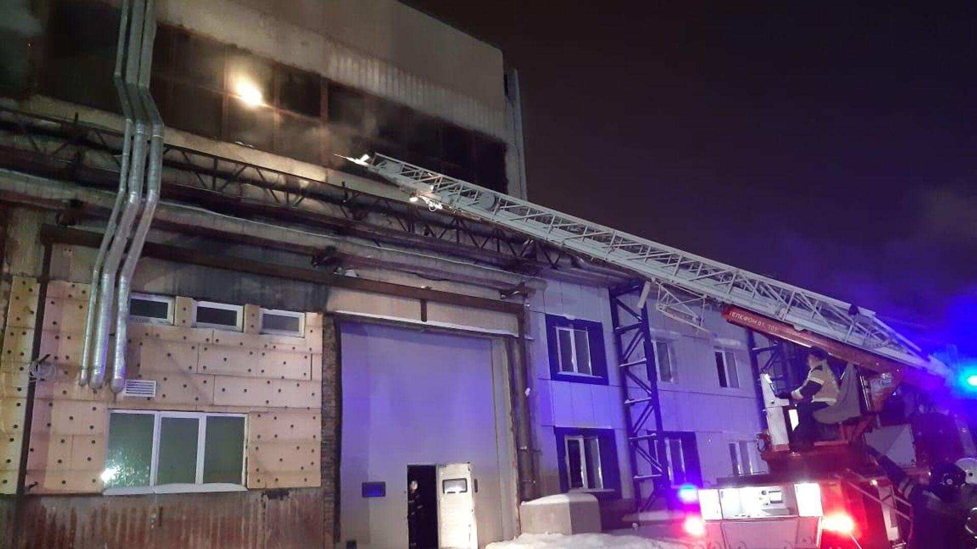 Пожар в производственном здании в Екатеринбурге - РИА Новости, 1920, 24.01.2021