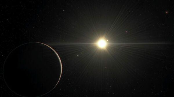 Так в представлении художника выглядит планетная система TOI-178 со стороны самой дальней планеты