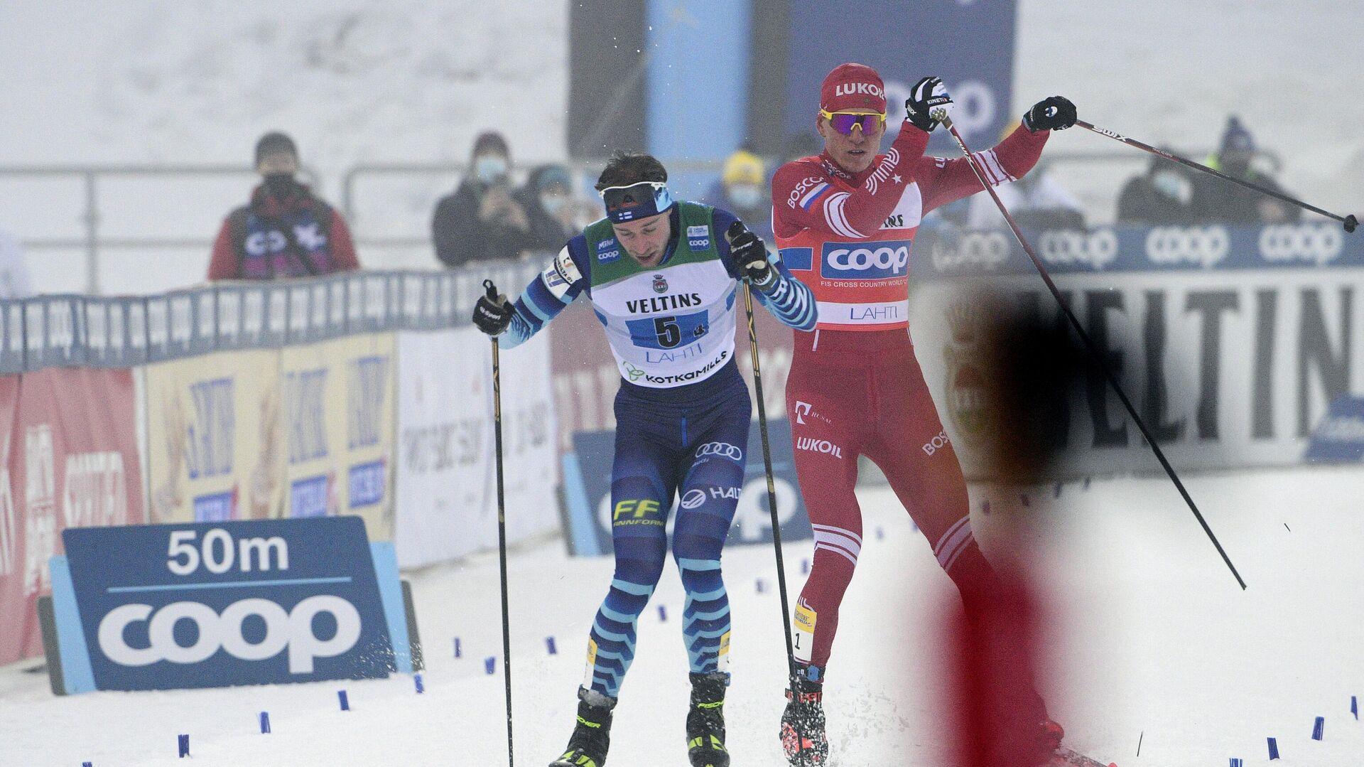 Инцидент между финским лыжником Йони Маки и Александром Большуновым - РИА Новости, 1920, 25.02.2021