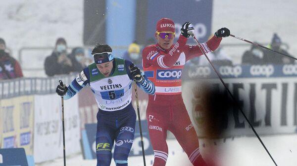 Инцидент между финским лыжником Йони Маки и Александром Большуновым