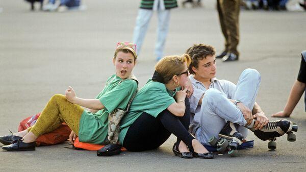 Во время рок-концерта на Манежной площади