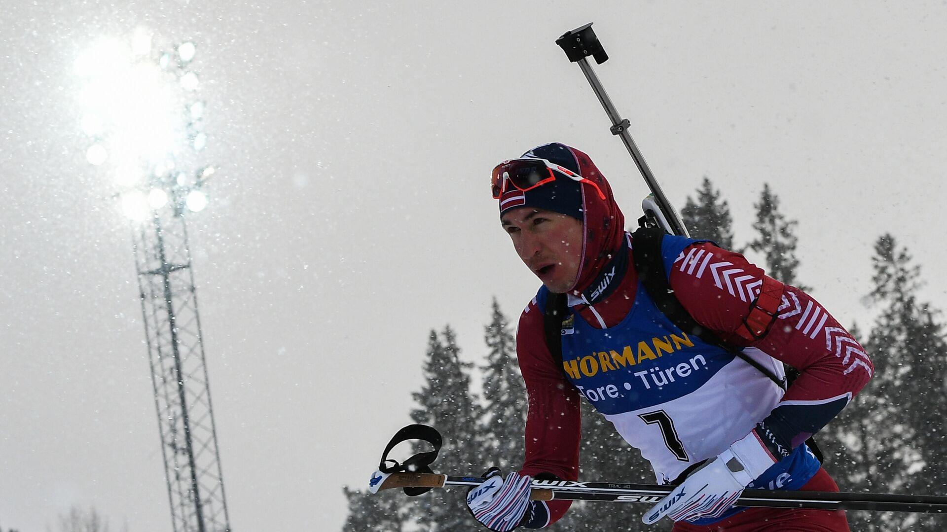 Биатлонист Андрей Расторгуев (Латвия) - РИА Новости, 1920, 11.03.2021