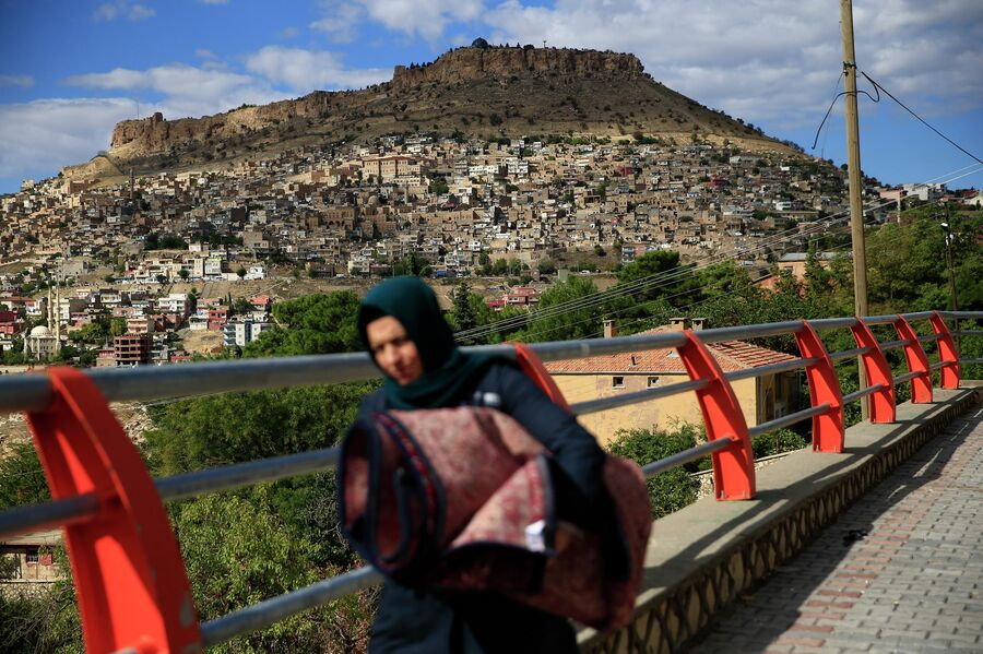 Женщина в Мардине, Турция
