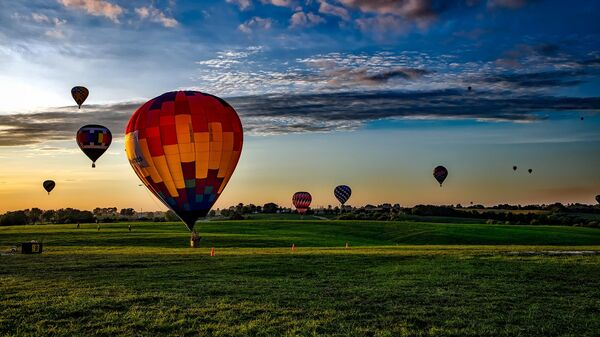 Воздушные шары в штате Айова, США