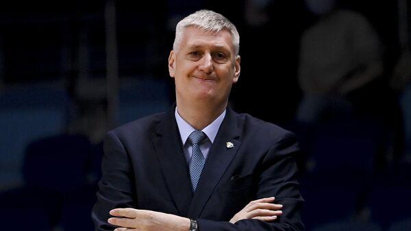 Исполняющий обязанности главного тренера БК Химки Андрей Мальцев