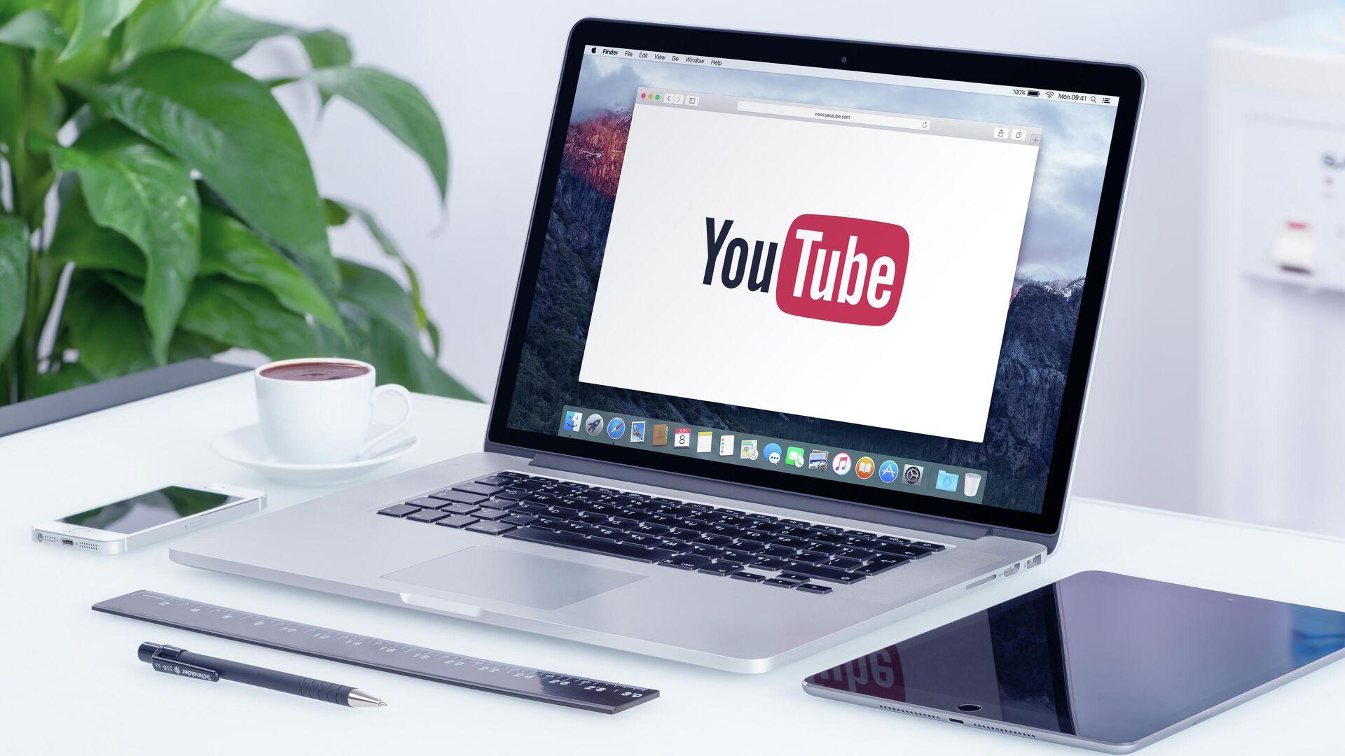 Логотип YouTube  - РИА Новости, 1920, 13.06.2021