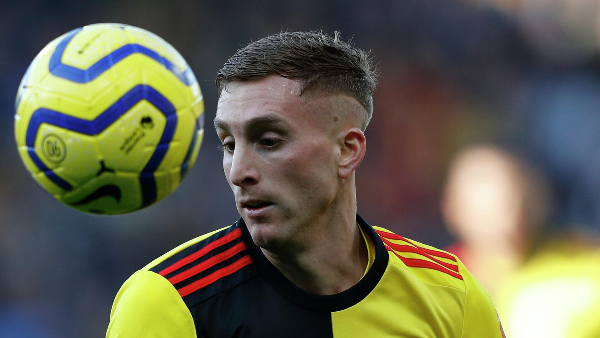Watford's Spanish midfielder Gerard Deulofeu controls the ball during the English Premier League football match between Watford and Tottenham Hotspur at Vicarage Road Stadium in Watford, north of London on January 18, 2020. (Photo by Adrian DENNIS / AFP) / RESTRICTED TO EDITORIAL USE. No use with unauthorized audio, video, data, fixture lists, club/league logos or 'live' services. Online in-match use limited to 120 images. An additional 40 images may be used in extra time. No video emulation. Social media in-match use limited to 120 images. An additional 40 images may be used in extra time. No use in betting publications, games or single club/league/player publications. /  - РИА Новости, 1920, 30.01.2021