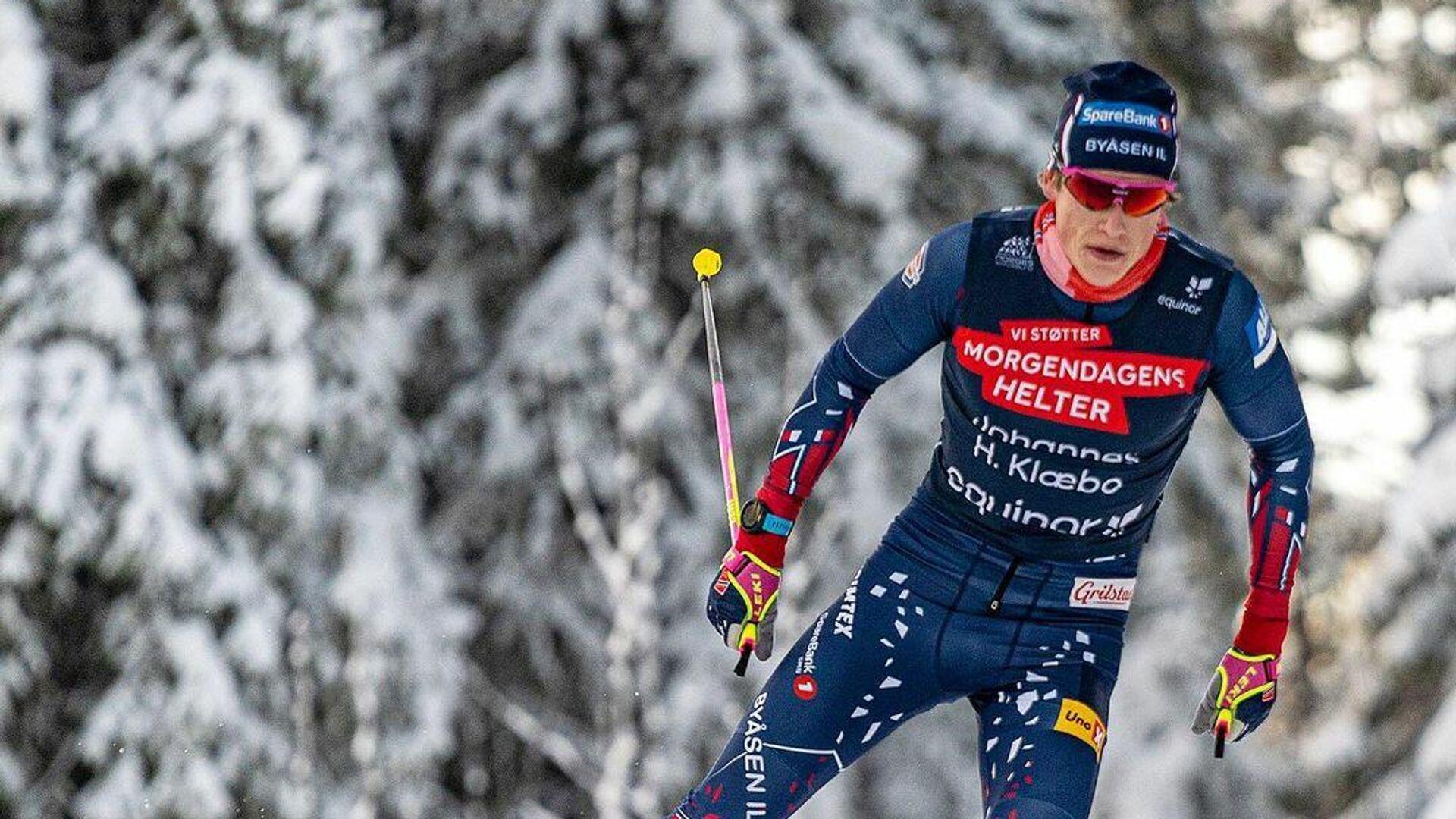 Трехкратный олимпийский чемпион по лыжным гонкам Йоханнес Клебо - РИА Новости, 1920, 02.03.2021