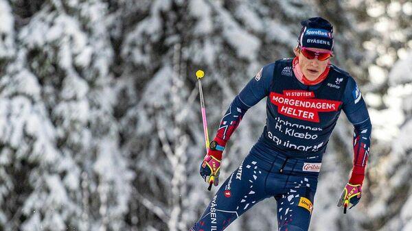 Трехкратный олимпийский чемпион по лыжным гонкам Йоханнес Клебо