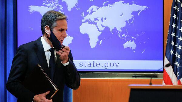 Первое выступление госсекретаря США Энтони Блинкена в Вашингтоне, США