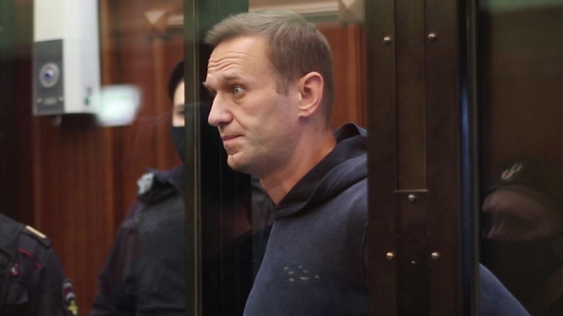 Алексей Навальный на заседании Московского городского суд. Кадр видео - РИА Новости, 1920, 03.02.2021