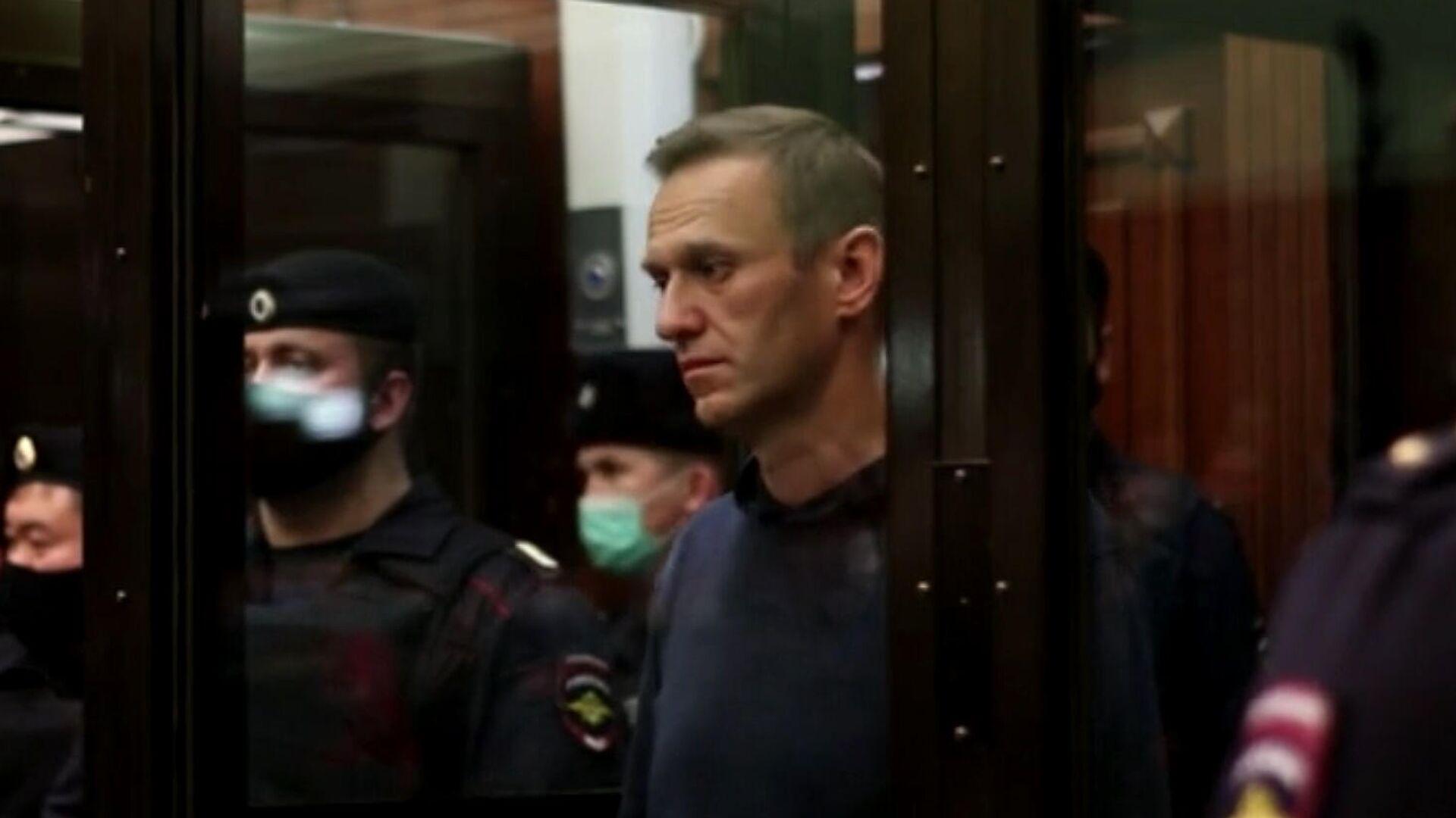 Оглашение приговора Алексею Навальному в Московском городском суде. Кадр видео - РИА Новости, 1920, 03.02.2021
