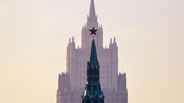 Вид на здание МИД в Москве