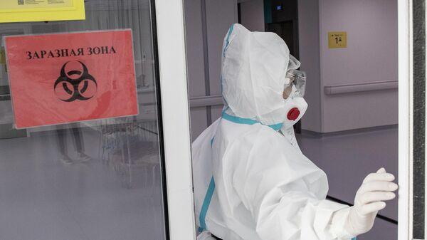 Врач городской клинической больницы №40 в Москве, где проходят лечение больные коронавирусной инфекцией