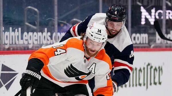 Матч НХЛ между командами Филадельфия Флайерз и Вашингтон Кэпиталз