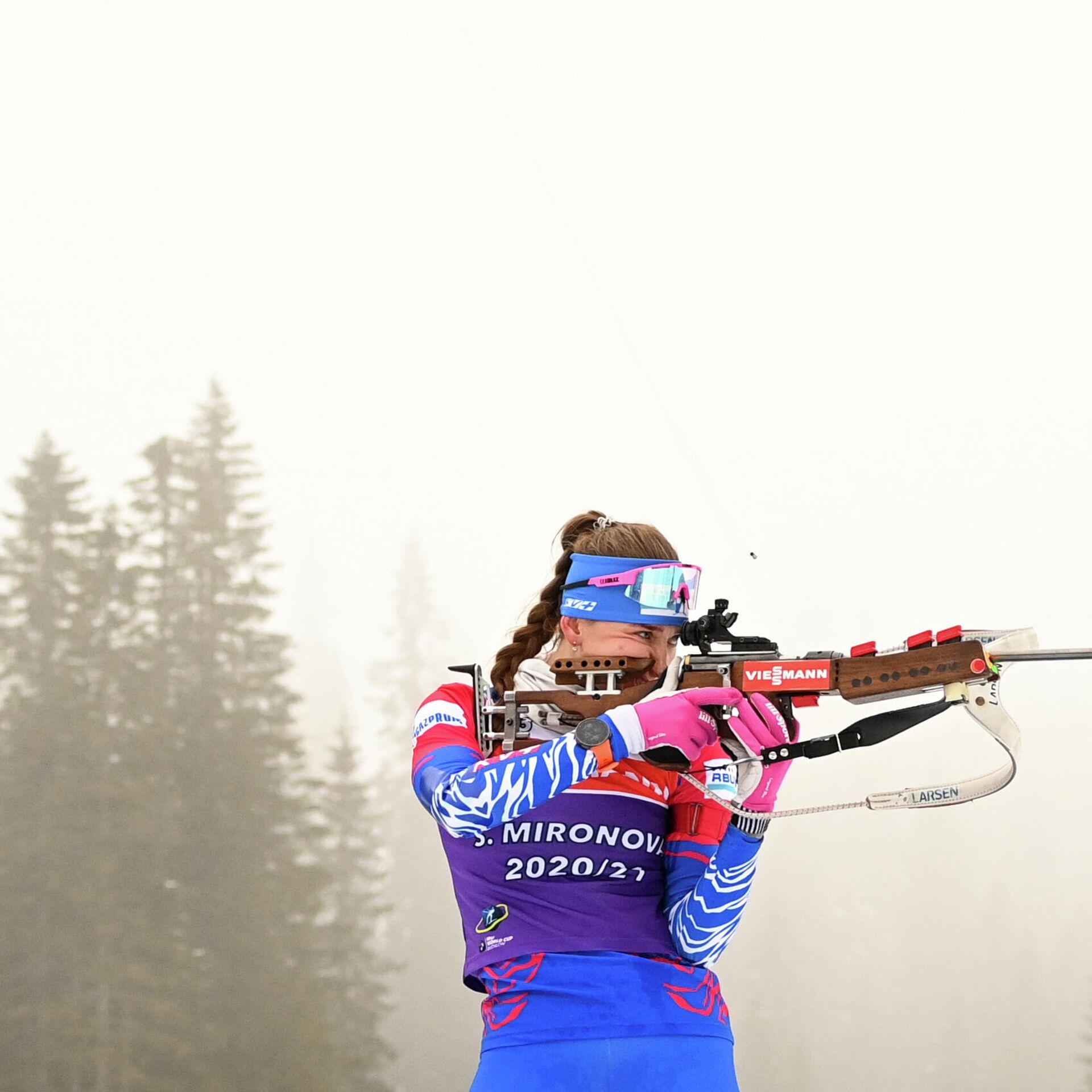 Биатлонистки сборной России частично готовились к ЧМ на ...