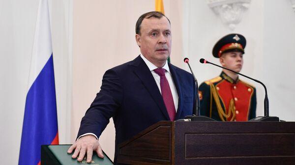 Новый мэр Екатеринбурга Алексей Орлов на церемонии инаугурации