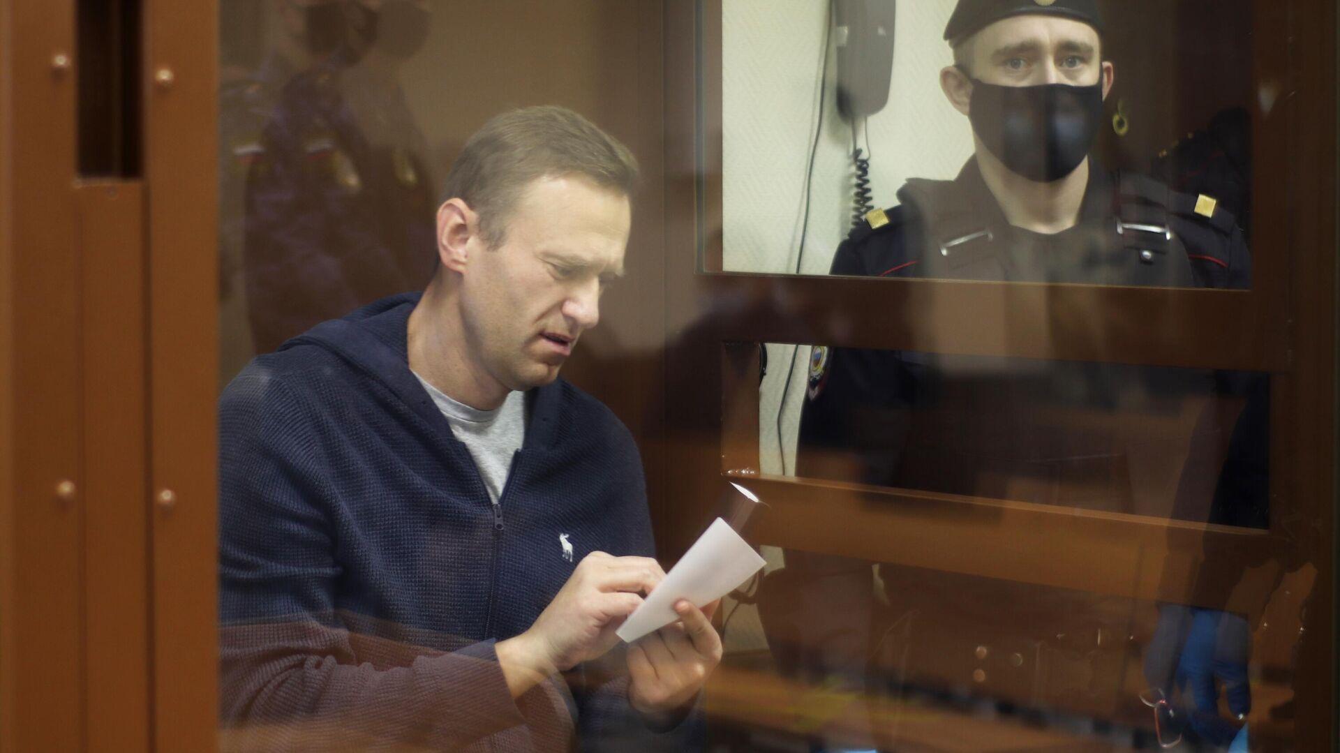 Алексей Навальный в зале Бабушкинского районного суда - РИА Новости, 1920, 03.03.2021
