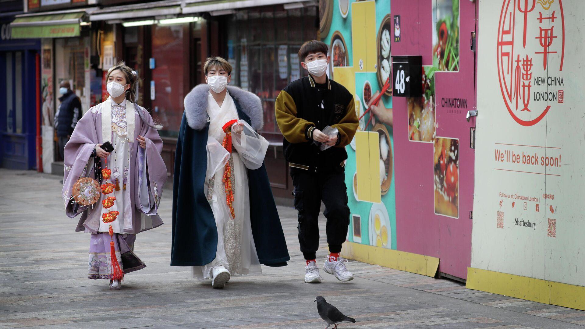 Люди в китайском квартале в Лондоне - РИА Новости, 1920, 13.02.2021