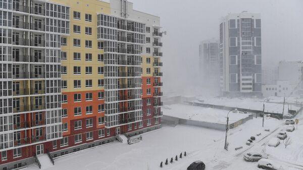 Сильный снегопад в Крыму