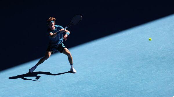 Андрей Рублёв в четвертьфинальном матче Открытого чемпионата Австралии 2021 (Australian Open 2021)