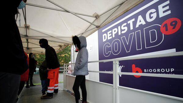 Центр тестирования на коронавирус (COVID-19) в Ле-Сабль-д'Олон, Франция