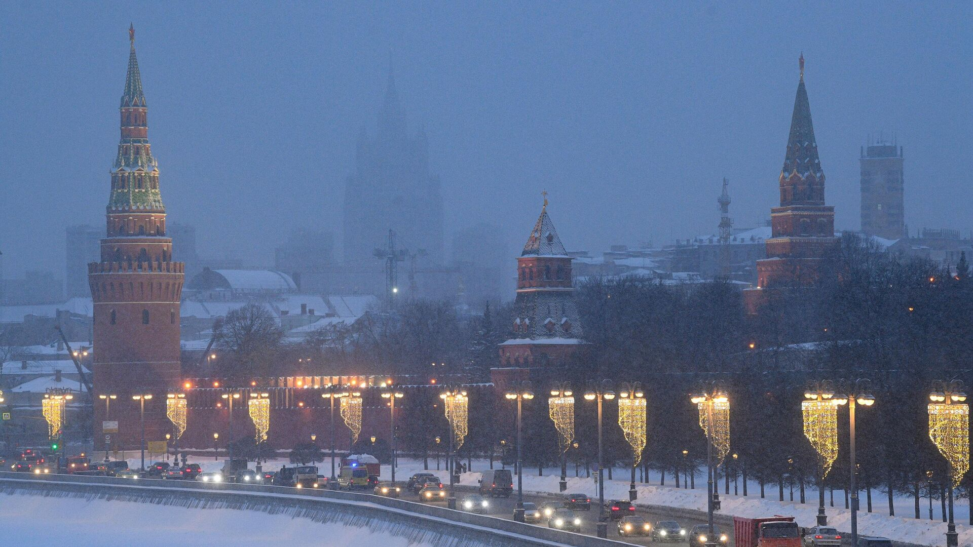 Снегопад в Москве - РИА Новости, 1920, 08.03.2021