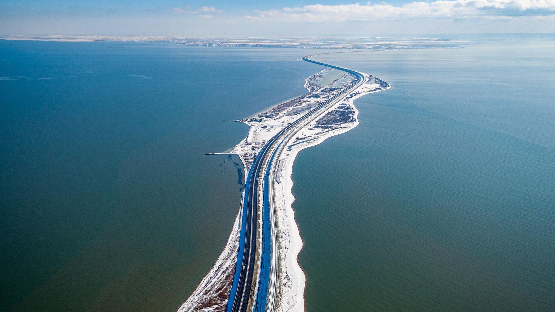 Крымский мост зимой 2021 года - РИА Новости, 1920, 22.02.2021