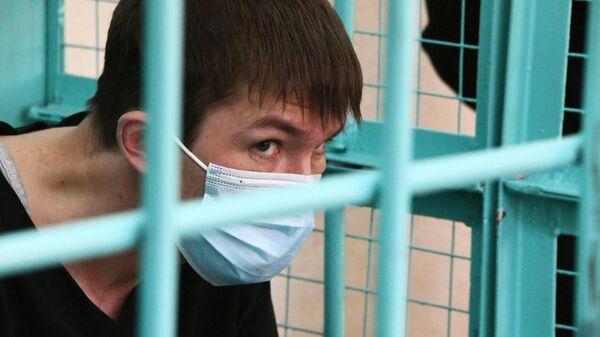 Василий Дунец, обвиняемый в убийстве девятилетней девочки, во время избрания меры пресечения в Железнодорожном районном суде Читы