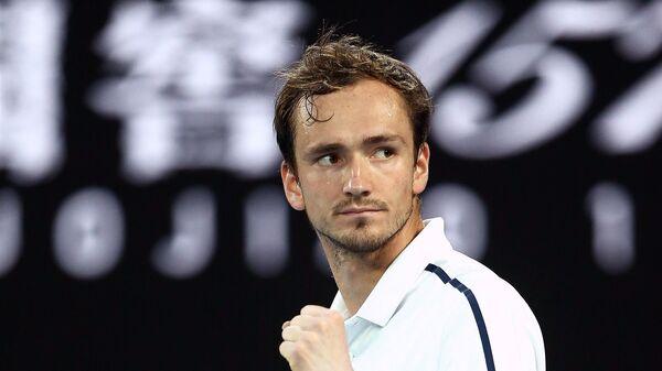 Даниил Медведев (Россия) в полуфинальном матче Открытого чемпионата Австралии 2021 (Australian Open 2021)