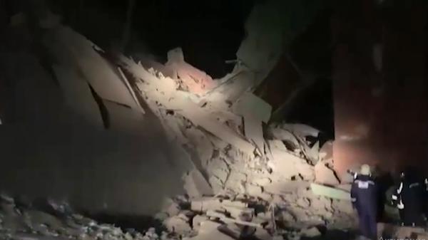 Опубликовано видео с места обрушения на фабрике в Норильске