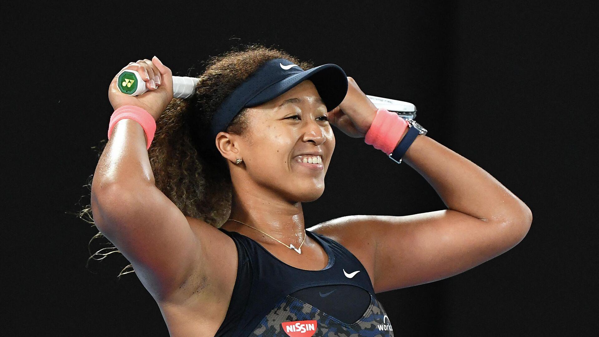 Наоми Осака празднует победу на Открытом чемпионате Австралии по теннису. - РИА Новости, 1920, 20.02.2021